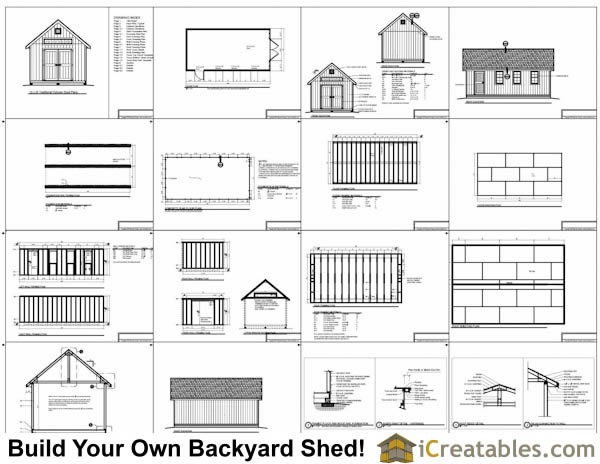 12x24 Traditional Victorian Backyard Shed Plans iCreatablescom