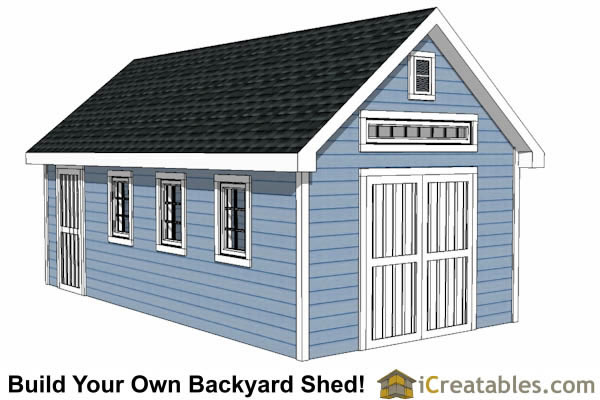Exceptionnel 12x24 Shed Plans