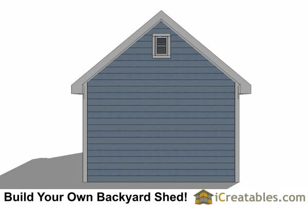 12x24 Traditional Victorian Backyard Shed Plans