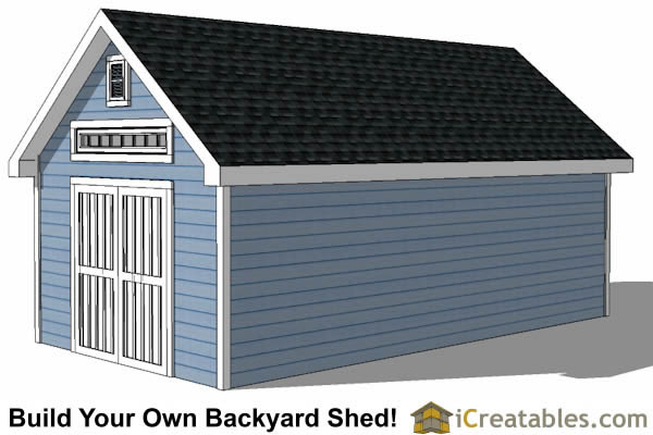 12x24 Traditional Victorian Style Storage Shed Plans right side