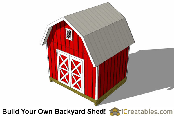 12x10 gambrel shed plans top view