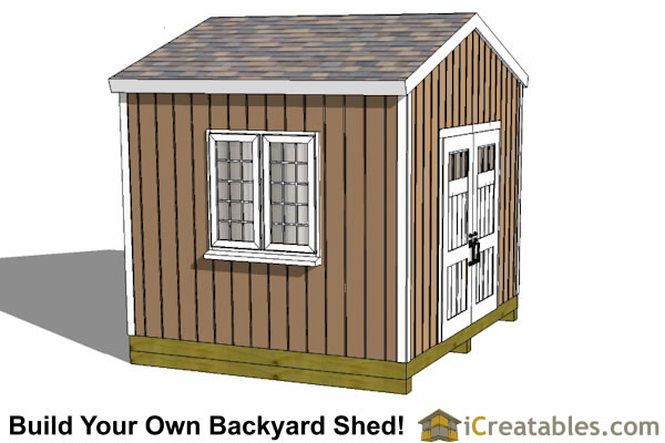 12x10 backyard storage shed plans door on side