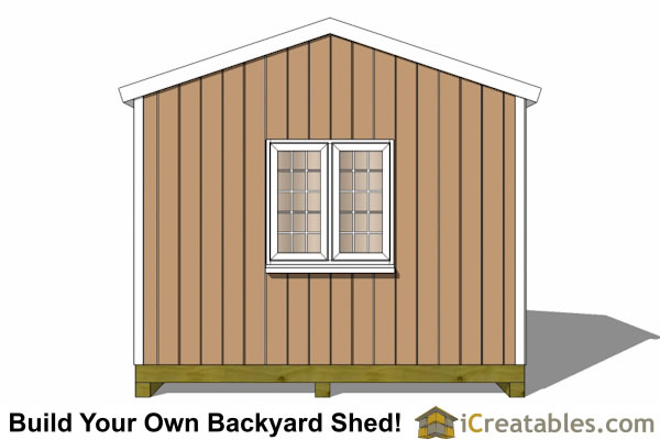 12x10 backyard storage shed plans gable end