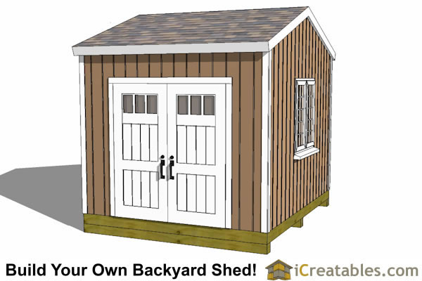 12x10 backyard storage shed plans