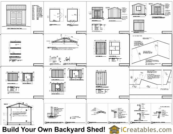 12x10 backyard storage shed plans example