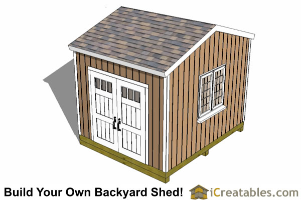12x10 backyard storage shed plans top view