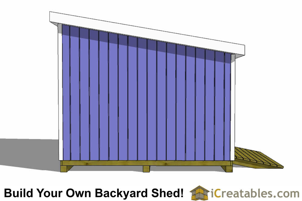 12x10 lean to shed left