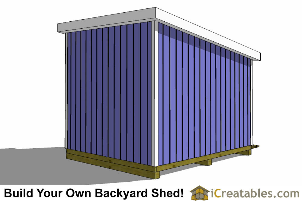 12x10 lean to shed rear