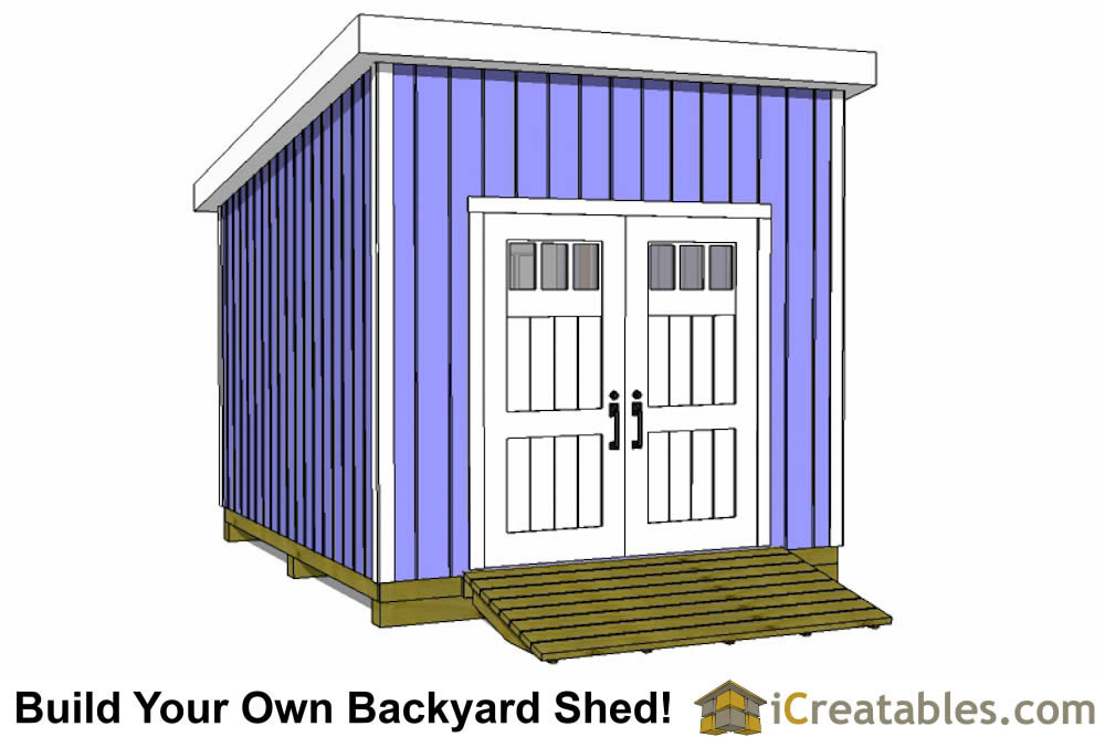 12x10 lean to shed plans door on high side
