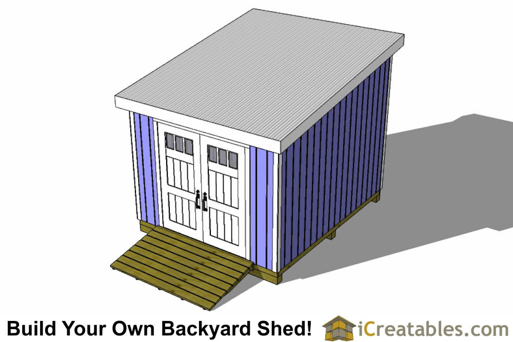 12x10 lean to shed top