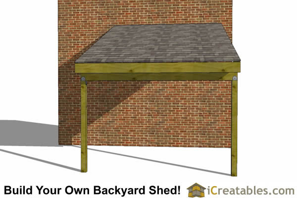 8x16 Lean To Open Side Shed Plans