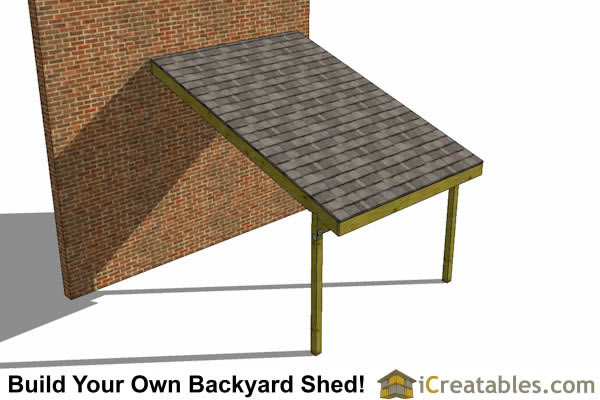 12x10 Lean To Shed Plans | 8x16 Lean To Open Side Shed Plans