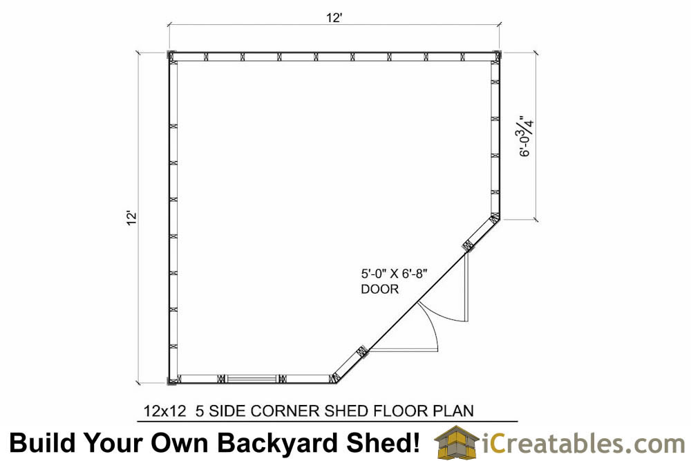 12x12 5 sided corner shed plans for 12x12 deck plans