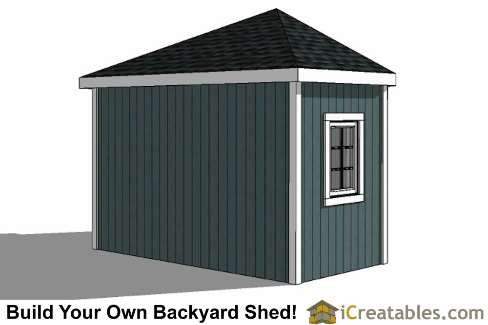 12x12 5 Sided Corner Shed Plans – 5 Sided Garden Shed Plans