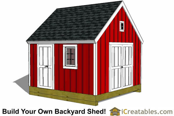 12x12 garden shed plans front elevations