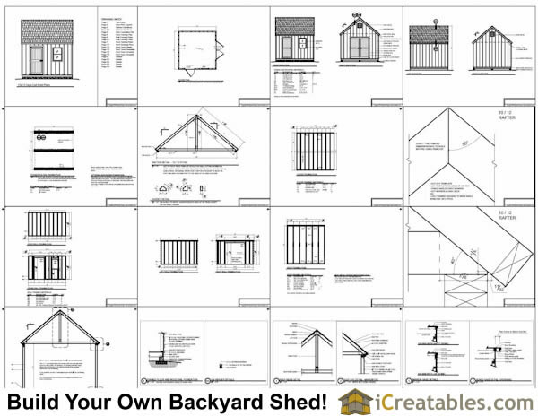 12x12 Cape Cod Garden Style Shed Plans