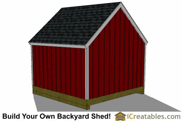 12x12 garden shed plans rear