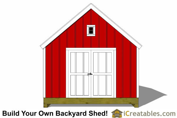 12x12 garden shed plans large doors