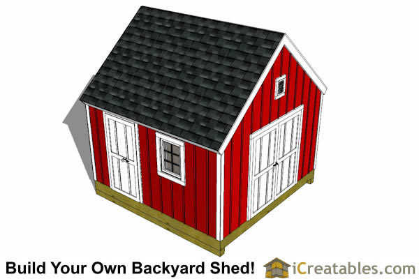 12x12 garden shed plans top view
