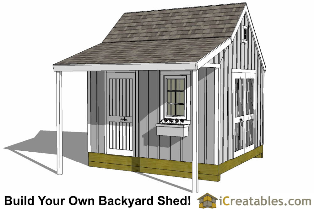 12x12 shed plans build your own storage lean to or Cape cod shed plans