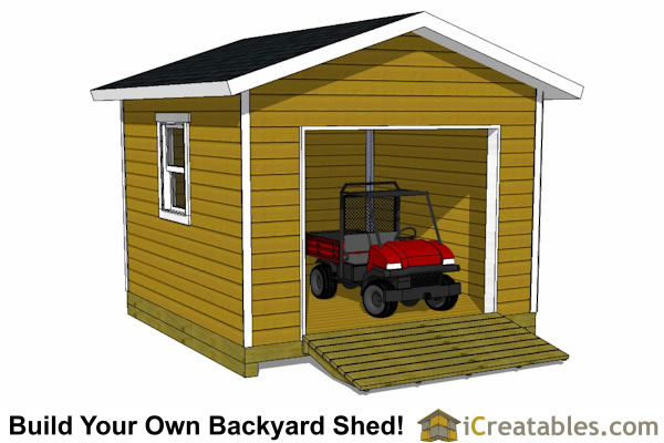 12x12 Shed Plans With Garage Door Icreatables