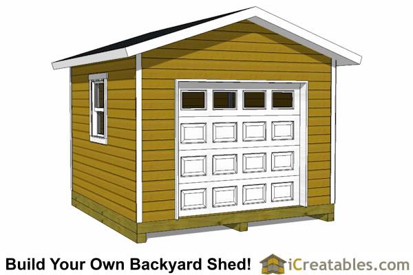 12x12 Shed Plans With Garage Door Icreatables