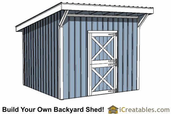 12x12 one stall horse barn plans