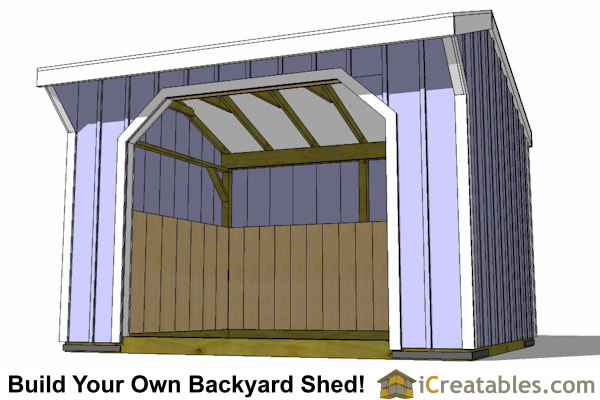 12x12 Run In Shed Plans Amish Horse Barn Plans Horse Run In Shed