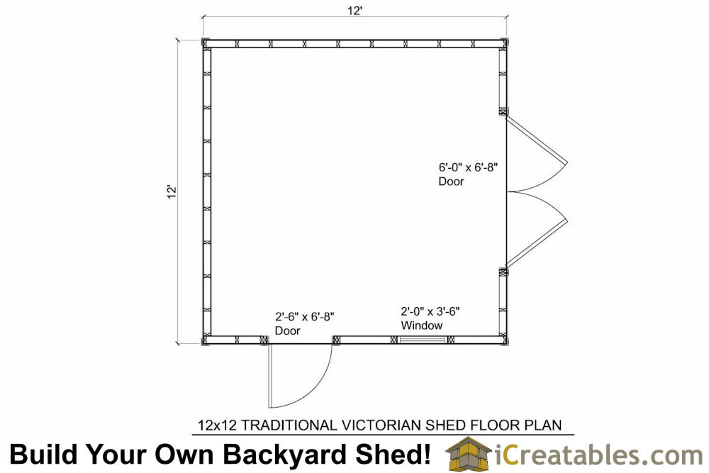 12x12 traditional victorian backyard shed plans for 12x16 shed floor plans