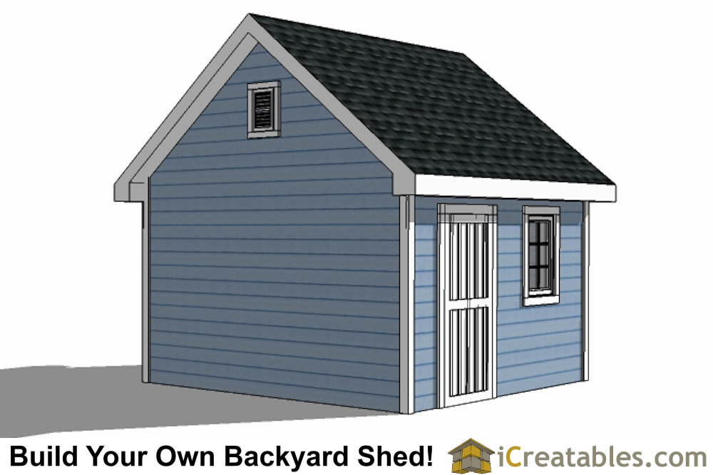 12x12 Traditional Victorian Backyard Shed Plans