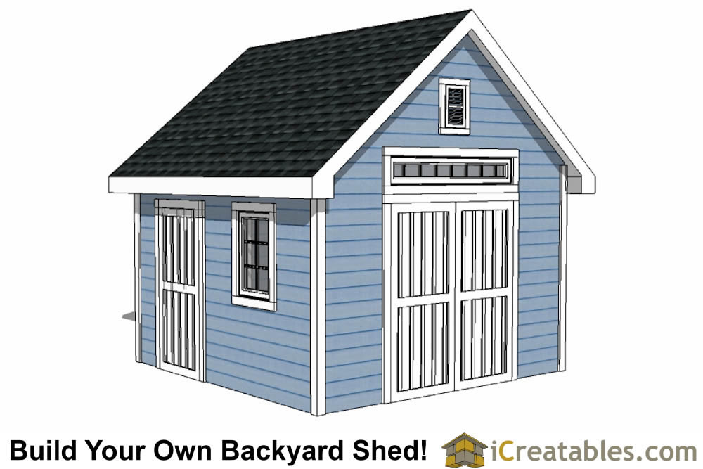 12x12 shed plans build your own storage lean to or for 12x18 garage plans