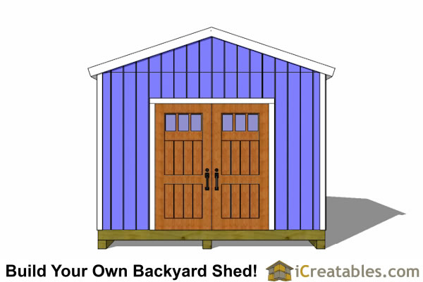 12x12 storage shed plans front elevation