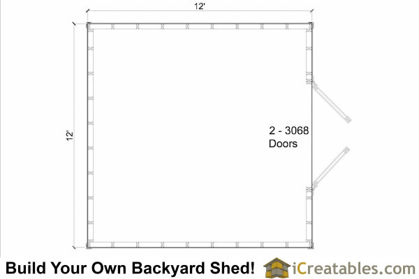12x12 storage shed floor plan