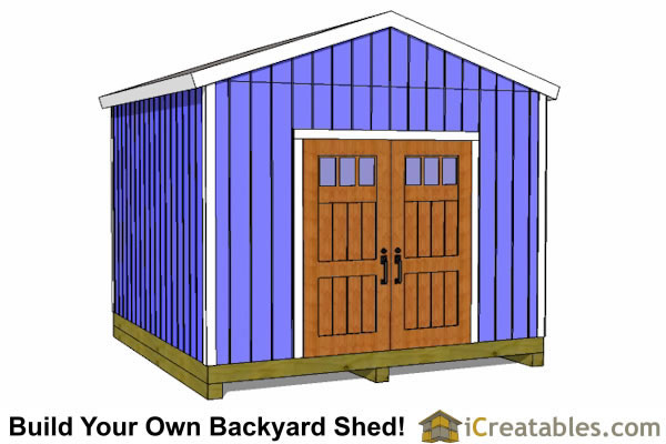 12x12 backyard shed plans gable shed