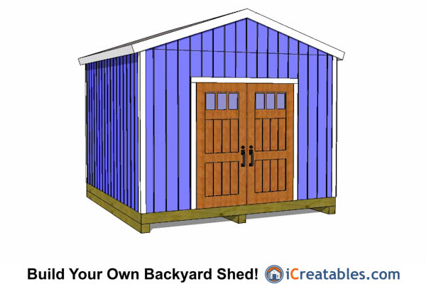12x12 gable shed plans