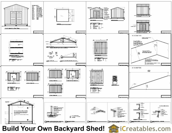 12x12 shed plans gable shed storage shed plans for Shed plans and material list