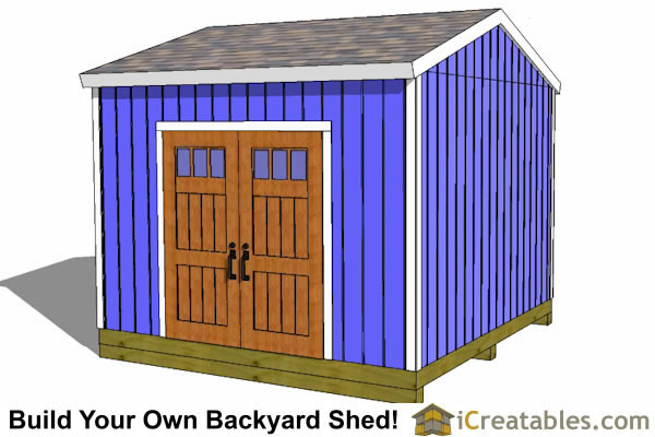 12x12 storage shed plans alternate elevation