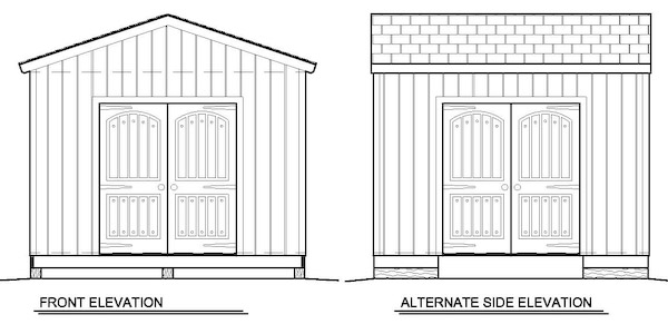 12x12 storage shed building plans