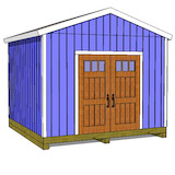 12x12 large shed plans gable