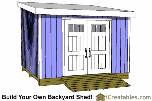 12x12 lean to shed front