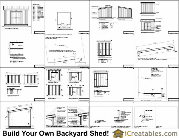 12x12 lean to shed plans for Material list for shed
