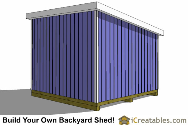 12x12 lean to shed rear
