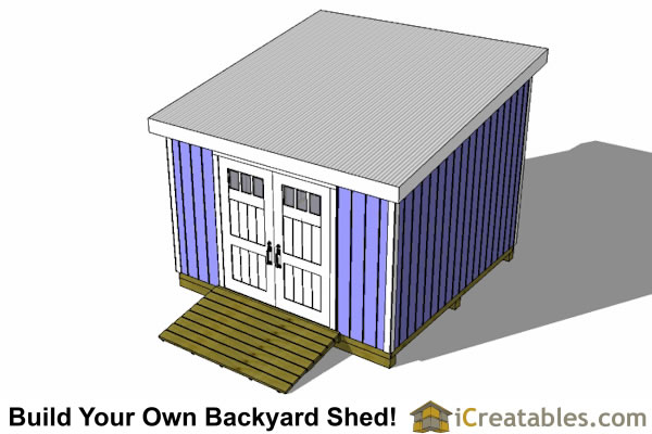 12x12 lean to shed top