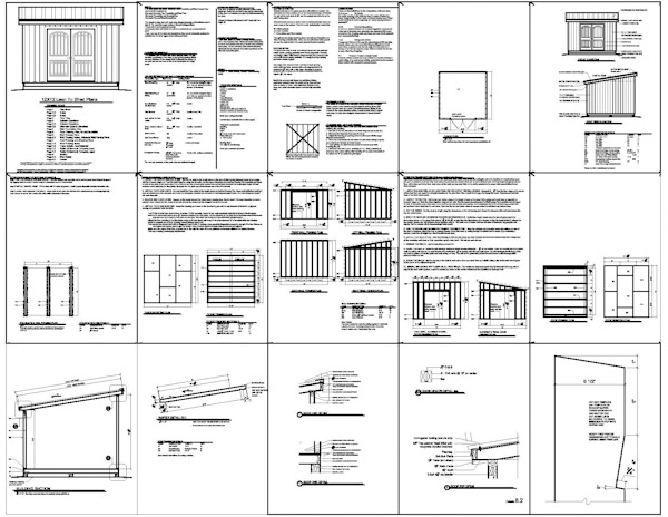 12x12 Lean To Storage Shed Plans I nclude The Following