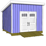12x12 lean to shed plans door on high side
