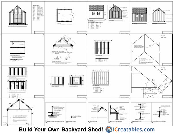 12x14 Cape Cod Style Garden Shed Plans