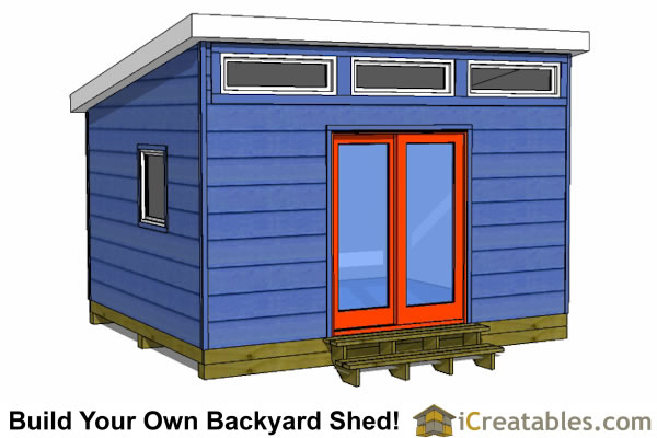 12x14 Modern Shed Plans Icreatables Sheds
