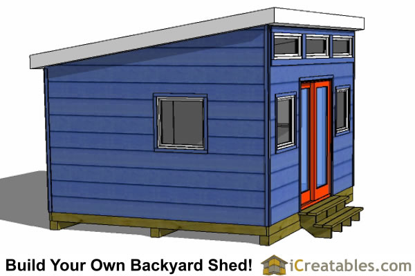 12x14 modern shed right