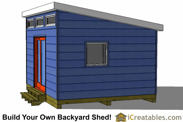 12x14 studio shed option side