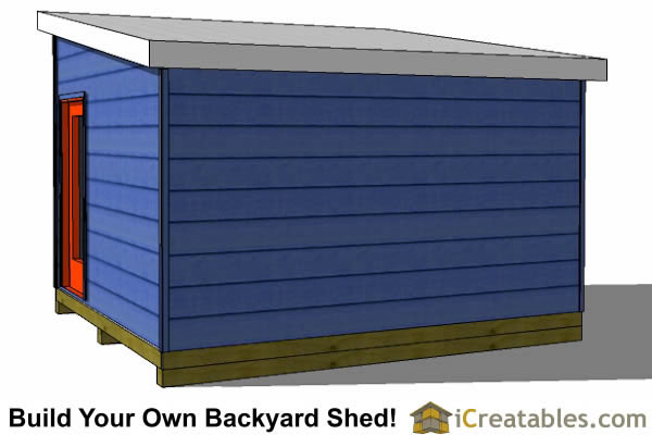 12x14 modern shed plans right